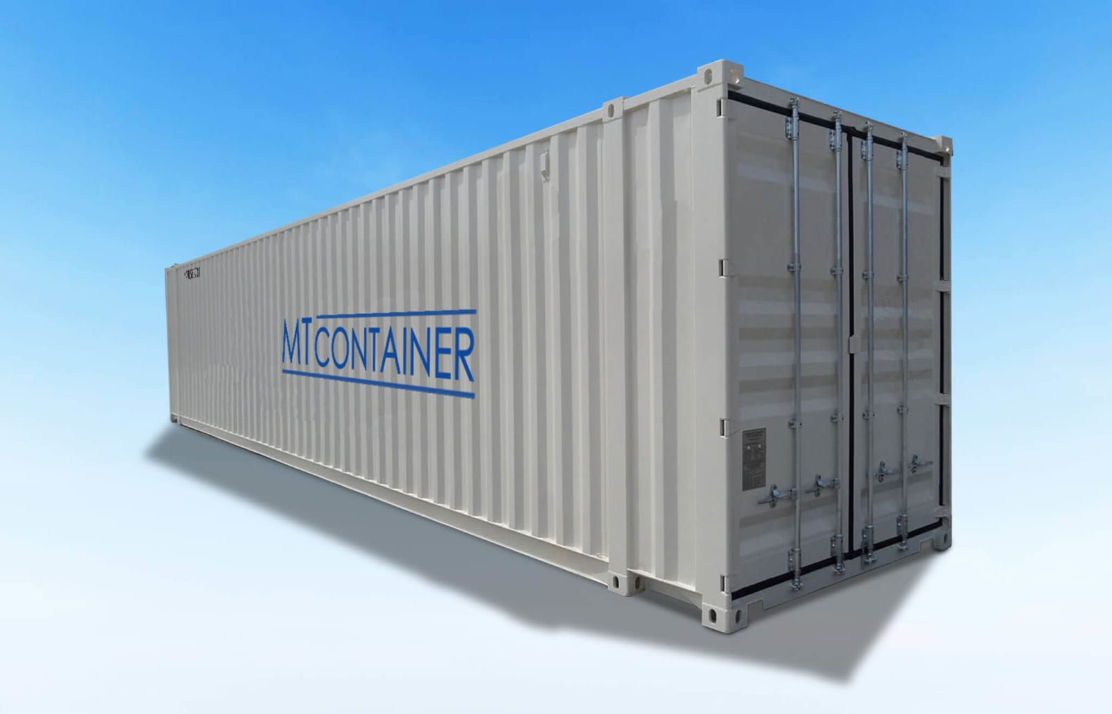 Grauer 40-Fuß-Container-Seecontainer