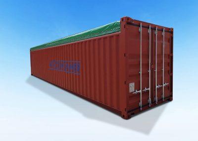 40-Fuß-Opentop-Open Top-Container-Dach-abziehbar