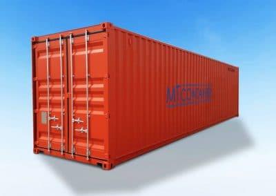 40-Fuß-ft-Seecontainer-Stahlcontainer-DV-orange-gebraucht