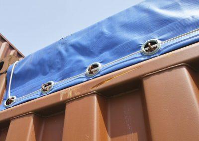 Open-Top-Container-Dach-Plane-Ösen-Befestigung