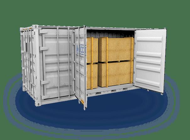 Open Side Door Container Header