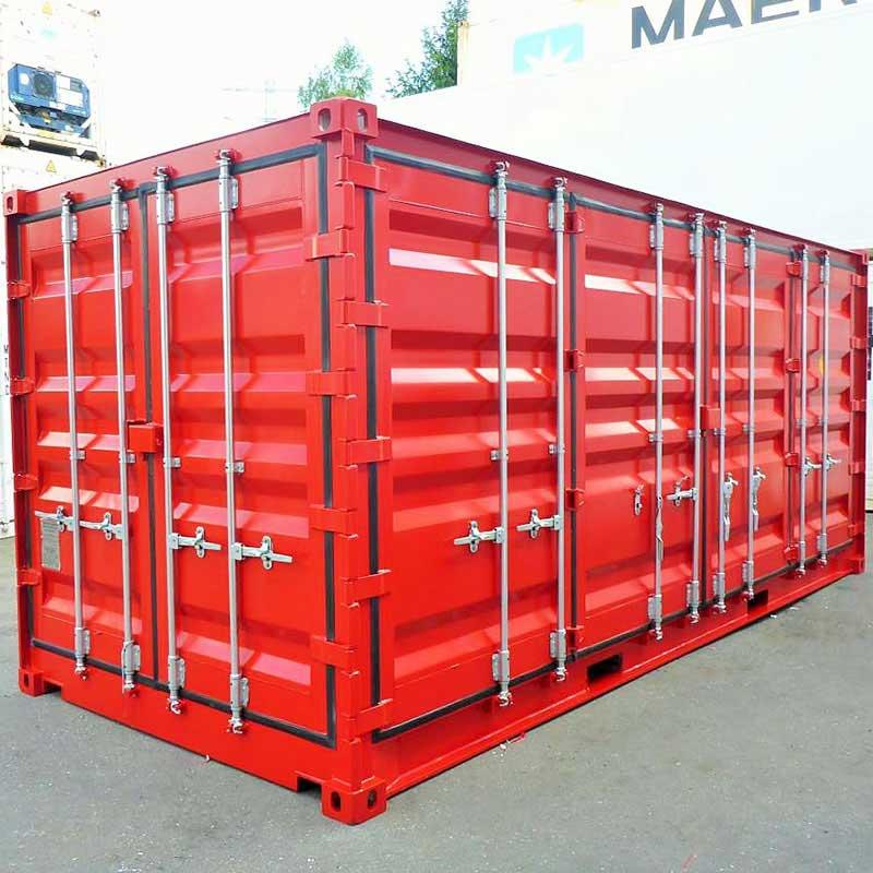 20 Fuss Open Side Door Container