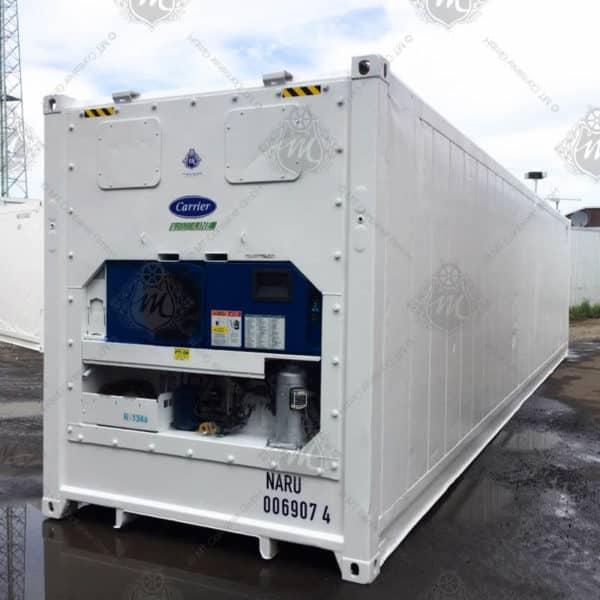 Weißer Kühlcontainer von Carrier.q