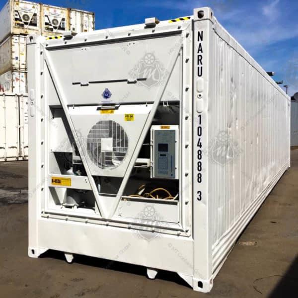 Weißer Kühlcontainer NARU 104888-3.