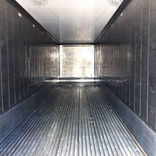 Innenraum eines Kühlcontainers.